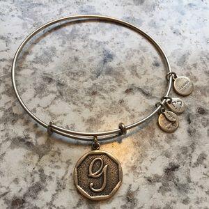 """""""G"""" Alex & Ani Bracelet"""